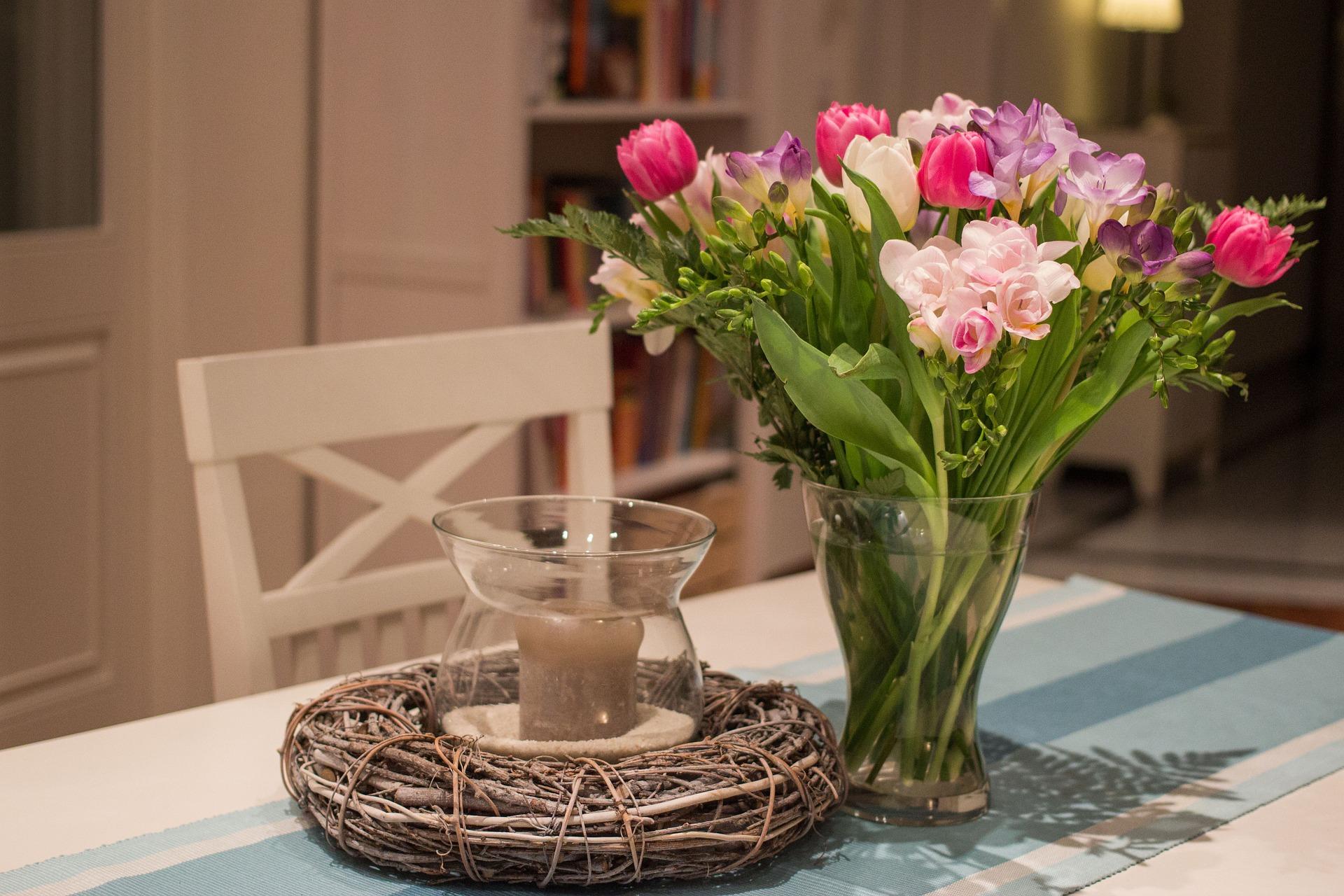 花瓶が無い時のお花の飾り方