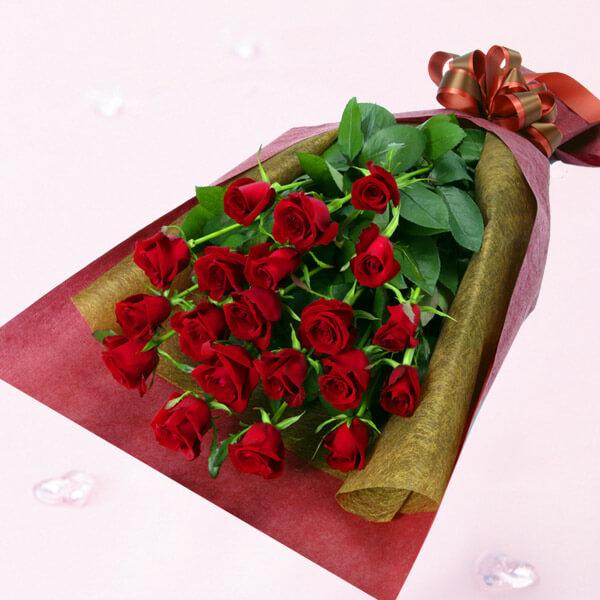 ハッピーローズフラワーギフト・赤バラの花束