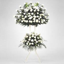 お供えスタンド花|白上がり2段・特急便