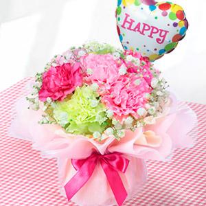 母の日フラワー・花*はなブーケ(ふわふわピンク/ピンク)