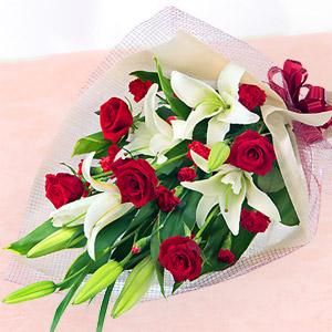 母の日フラワー・ユリとバラの花束