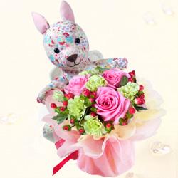 天使のルーの花*はなブーケ(ピンクバラ)