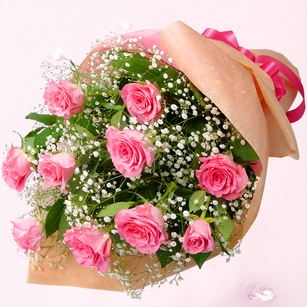 ハッピーローズフラワーギフト・ピンクバラの花束