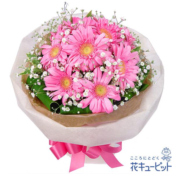 【花束】ピンクガーベラブーケピンクガーベラが引き立つシンプルなブーケ!