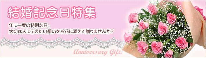 結婚記念日特集 結婚記念日に贈る、特別なフラワーギフトをご用意しました。「いつもありがとう」大切な人に伝えたい想いをお花に添えて贈りませんか?