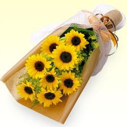 8位★ひまわりの花束