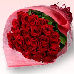 第9位★30本の赤バラの花束