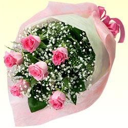 第4位★ピンクバラの花束