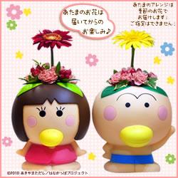 はなかっぱとももかっぱのなかよしペアセット あたまのお花は届いてからのお楽しみ