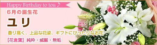 6月の誕生花 ユリ 【花言葉】純潔・威厳・無垢