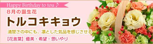 8月の誕生花|トルコキキョウ