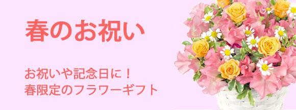 お祝いや記念日に!春限定のフラワーギフト